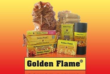 Openhaardhout, haardhout, aanmaakhout, houtskool Golden Flame