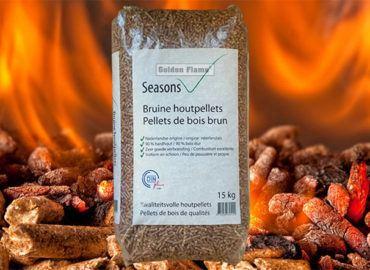 NIEUW: bruine houtpellets